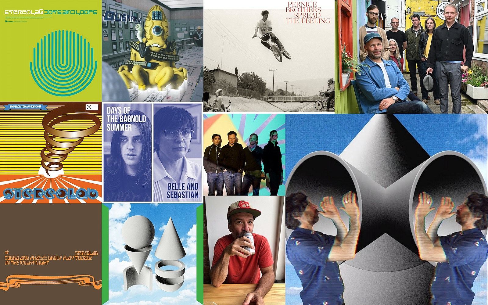 indie basement: super furry animals, gruff rhys, stereolab, pernice brothers, belle & sebastian, metronomy