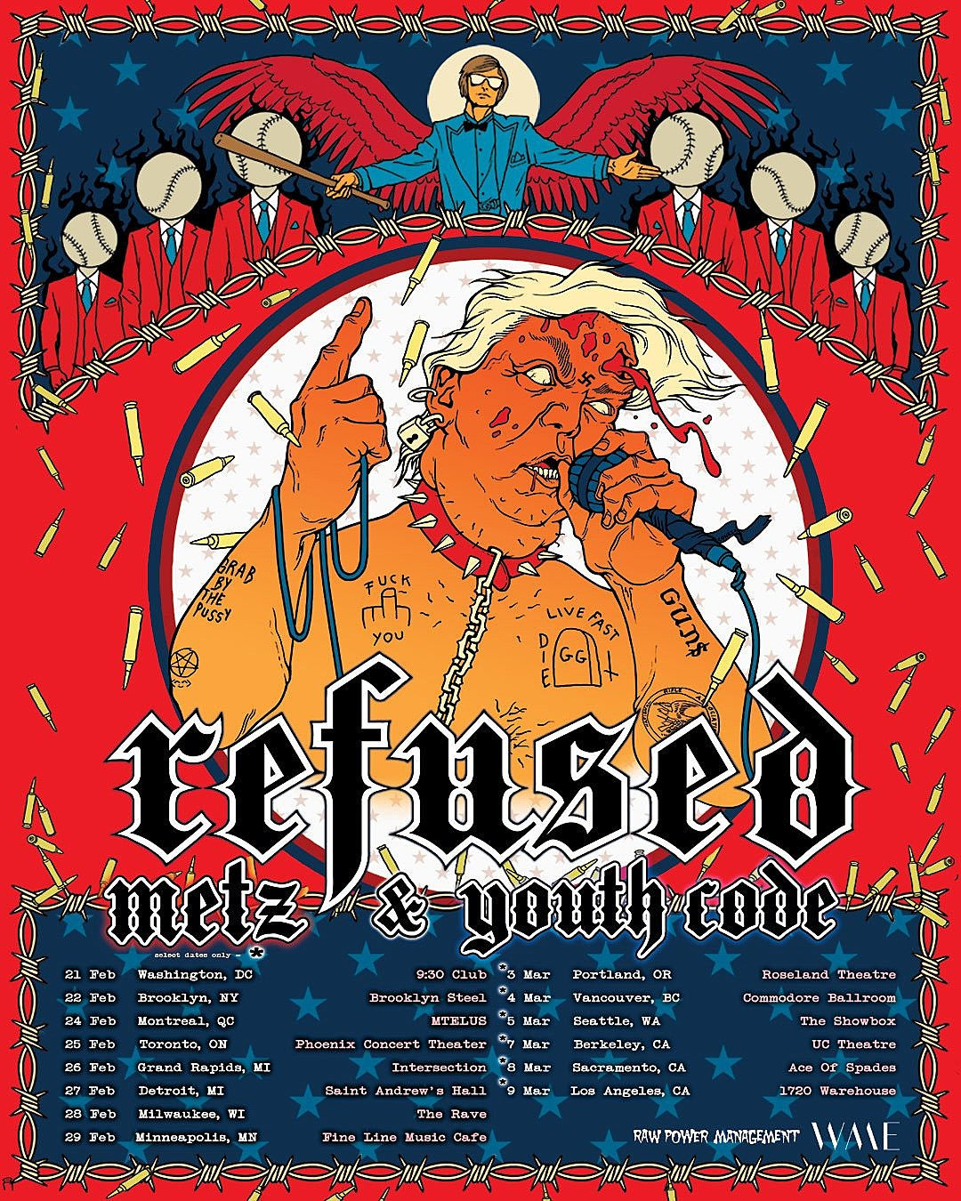 Refused METZ Youth Code tour