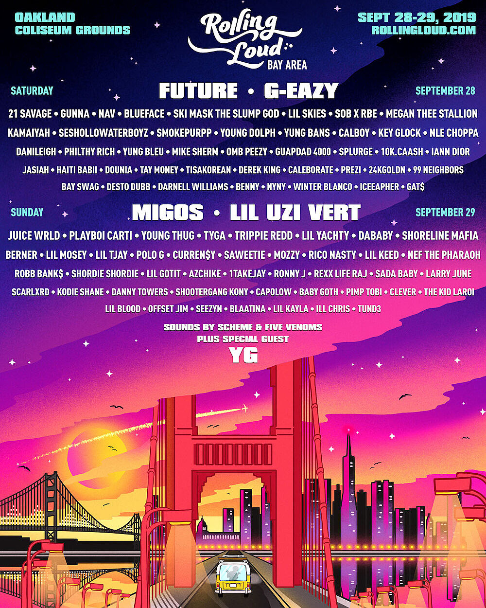 7 Am Lil Uzi Vert rolling loud bay area livestreaming this weekend