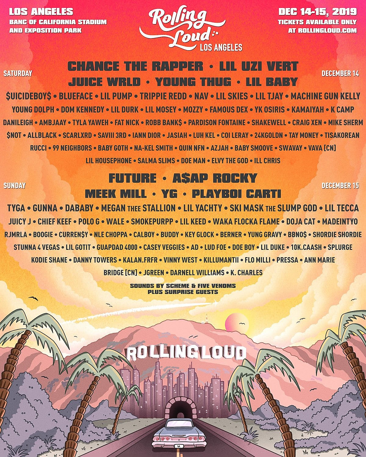 Rolling Loud Los Angeles 2019 lineup (Chance, Lil Uzi Vert, Future, A$AP Rocky, more)