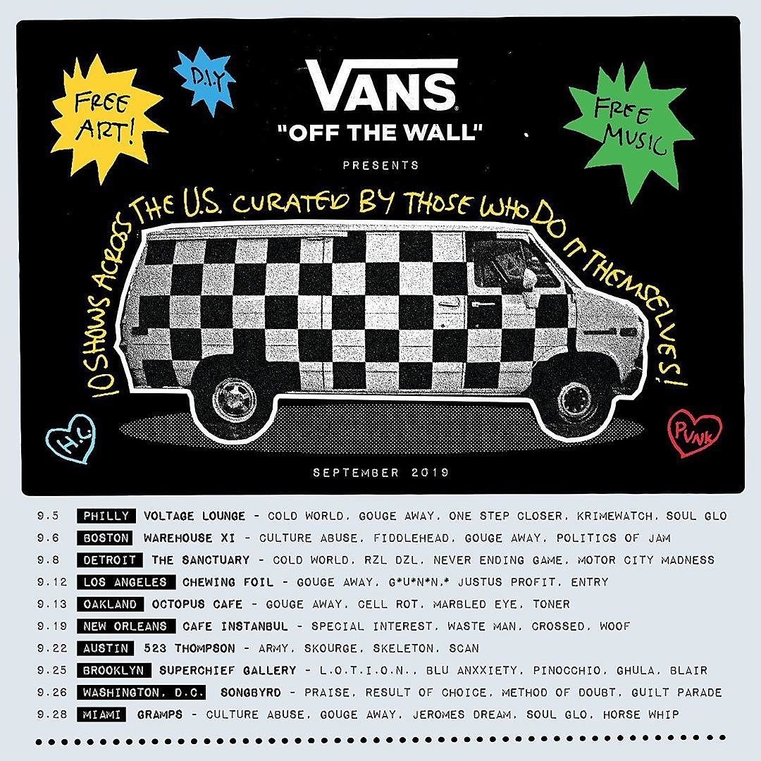 Vans 'The Spirit of DIY' punk events happening around the