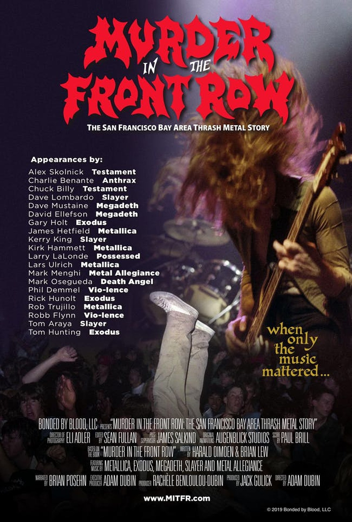 more Murder In The Front Row screenings + Q&As coming, including Nitehawk