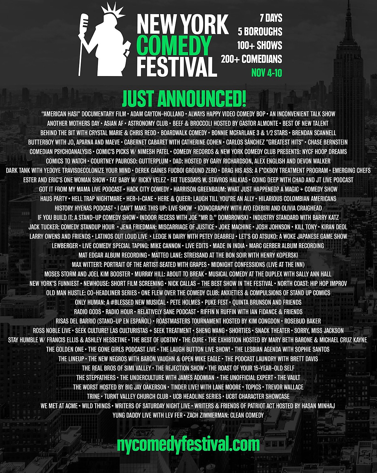 NY Comedy Fest adds 100 more shows to 2019 lineup (Hasan Minhaj, Pete Holmes, more)
