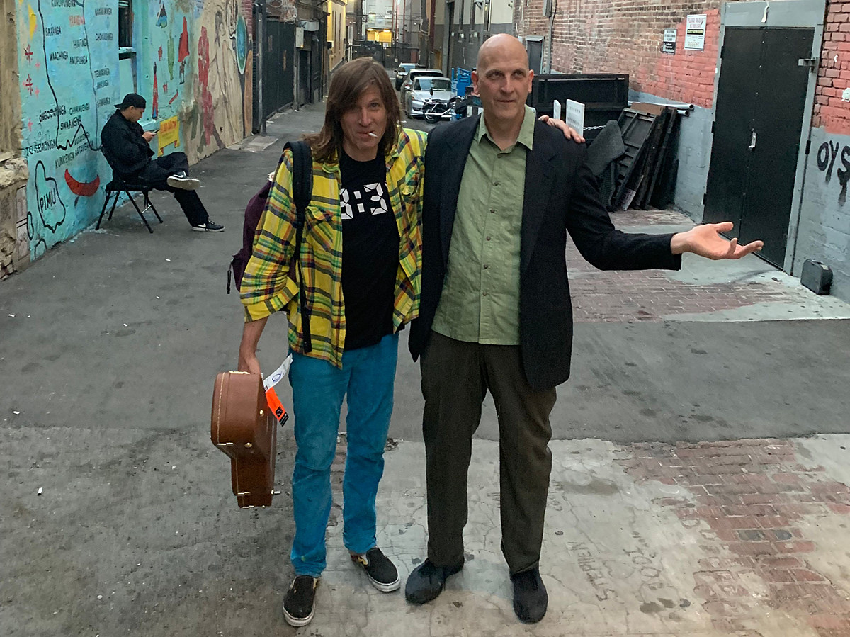 Jimmy Flemion of The Frogs touring in 2020 with Evan Dando on drums