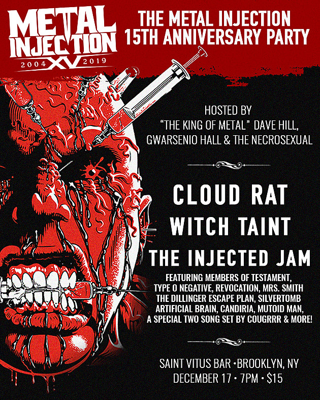 MEtal Injection anniversary party flyer