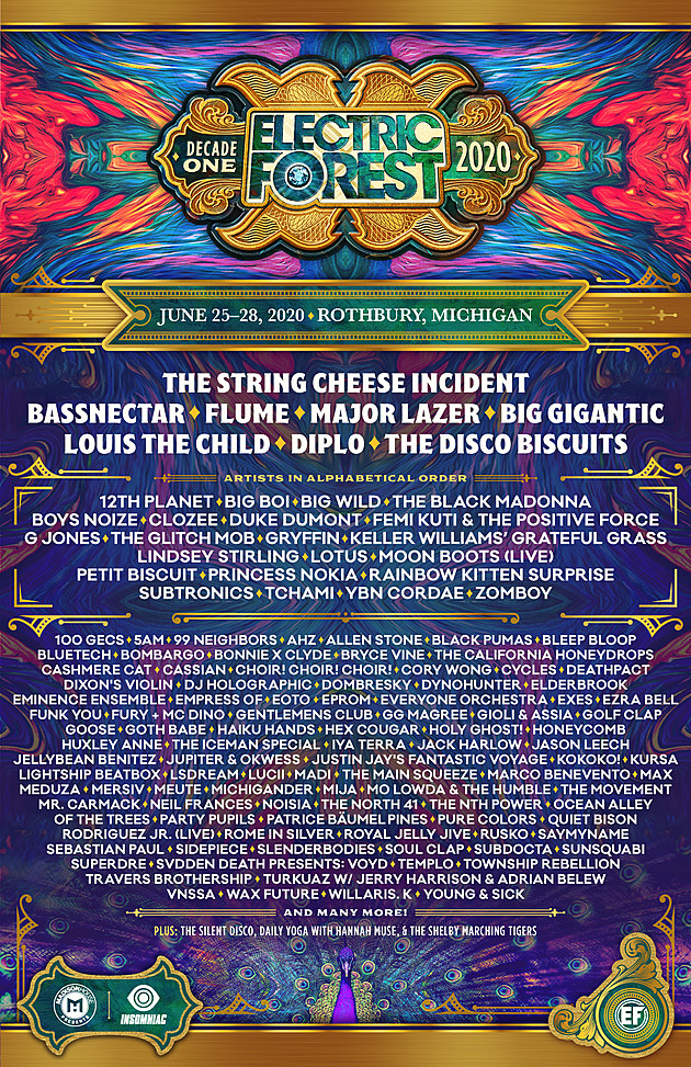 Games With Gold June 2020.Electric Forest 2020 Lineup Bassnectar Flume Major Lazer