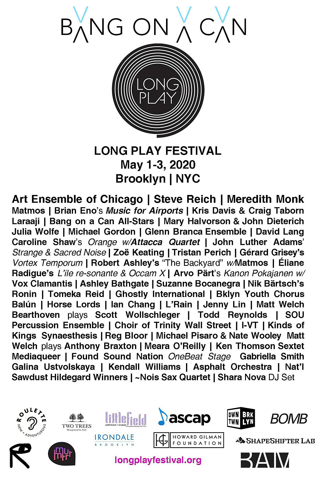 Long Play 2020 Flyer