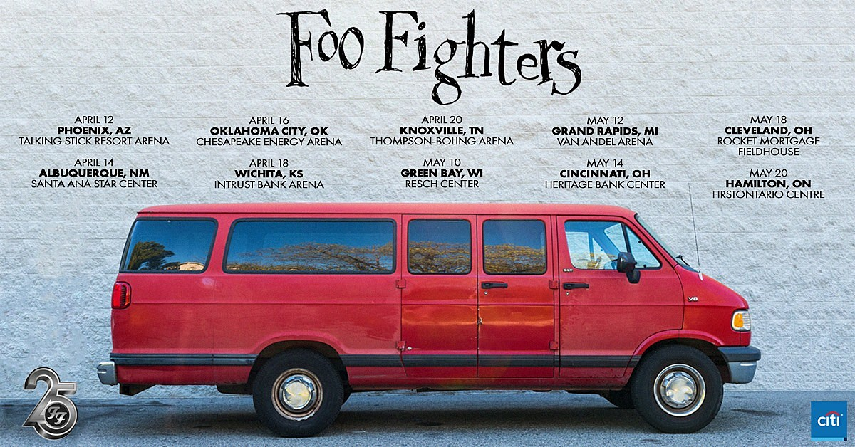 Foo Fighters Have Announced A U.S. Headline Tour