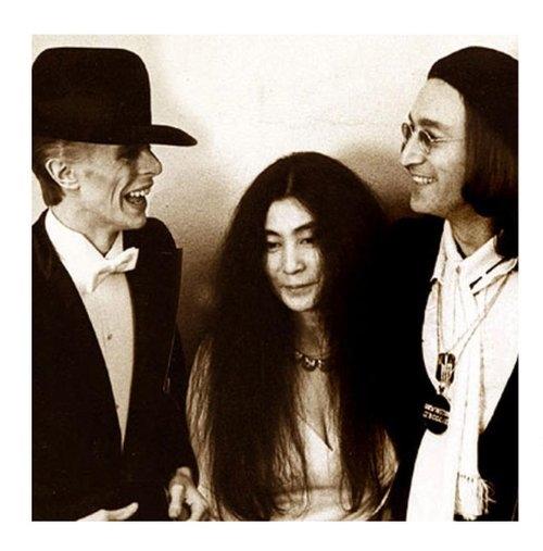 Yoko Ono John Lennon David Bowie