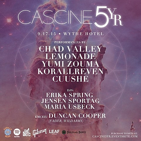 Cascine 5yr Party Poster