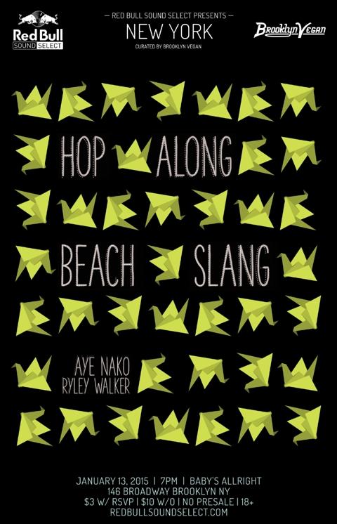 Hop Along, Beach Slang, Aye Nako & Ryley Walker playing next