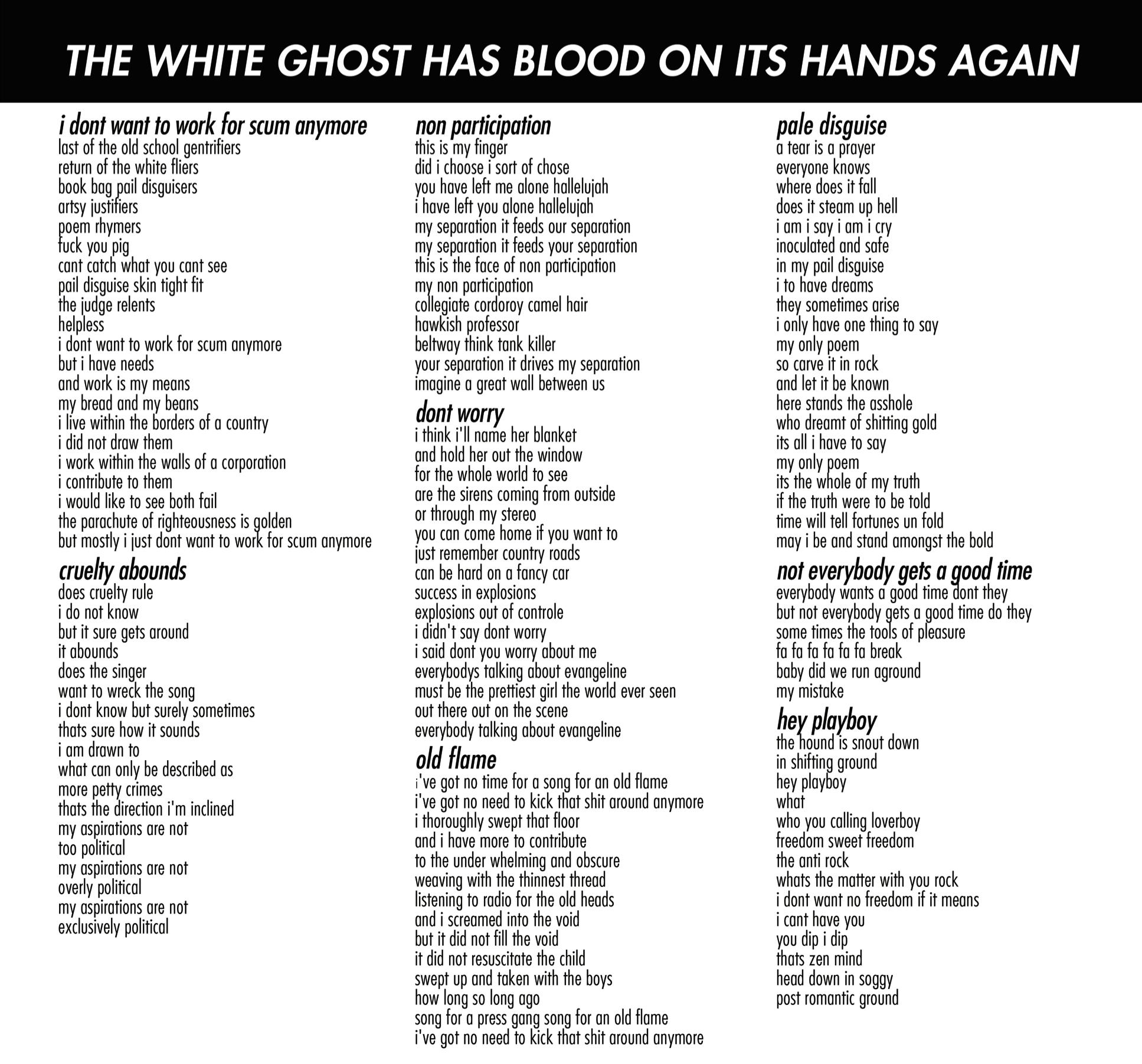 RECKLESS KELLY - AMERICAN BLOOD LYRICS