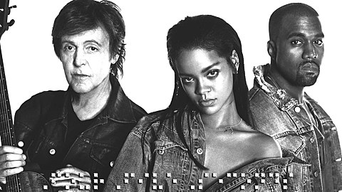 Paul McCartney Kanye West Rihanna Share Video Playing The Grammys Like Madonna AC DC More