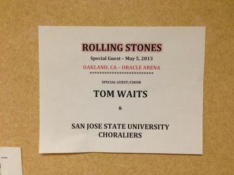 Tom Waits Stones