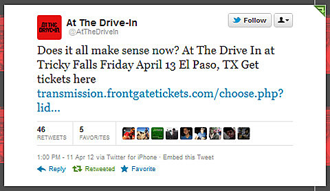 At The Drive In @ El Paso