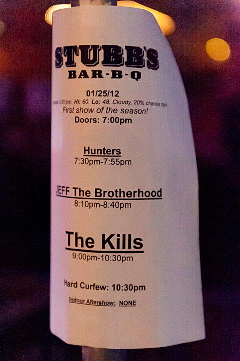 Hunters @ Stubb's - 1/25/2012
