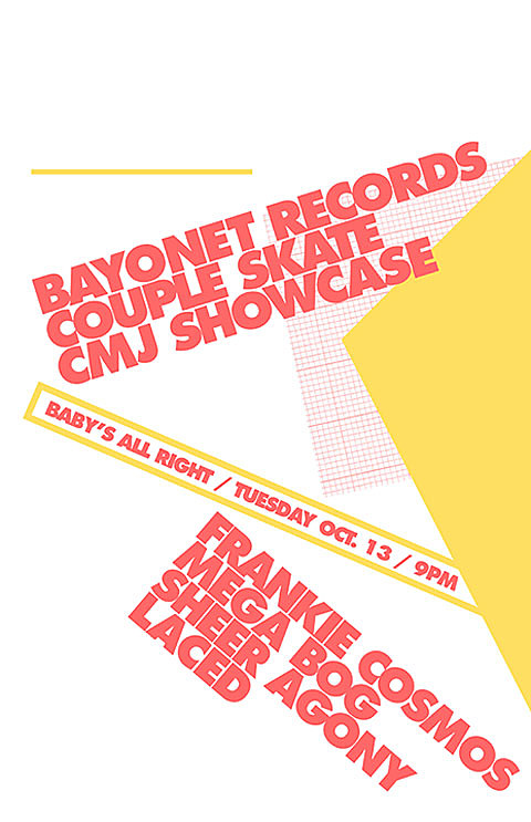 Bayonet Records CMJ Showcase poster