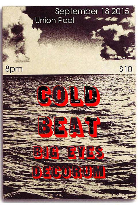 Cold Beat Union Pool Flyer