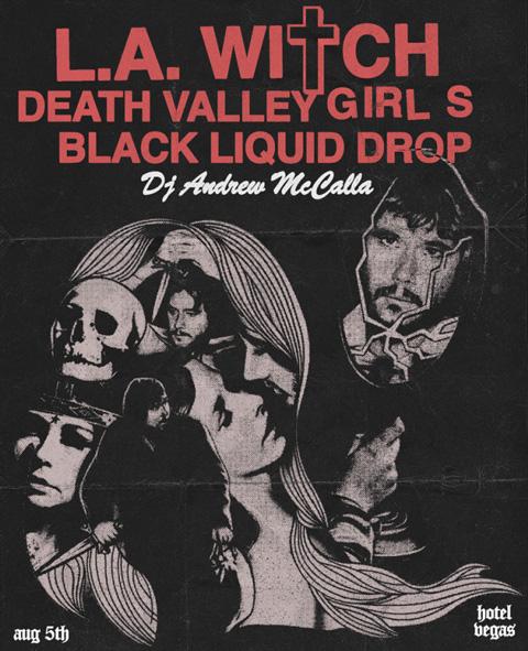 Death Valley Girls tour flyer