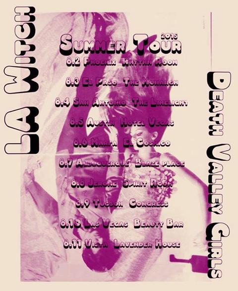 Death Valley Girls tour flyer LA Witch