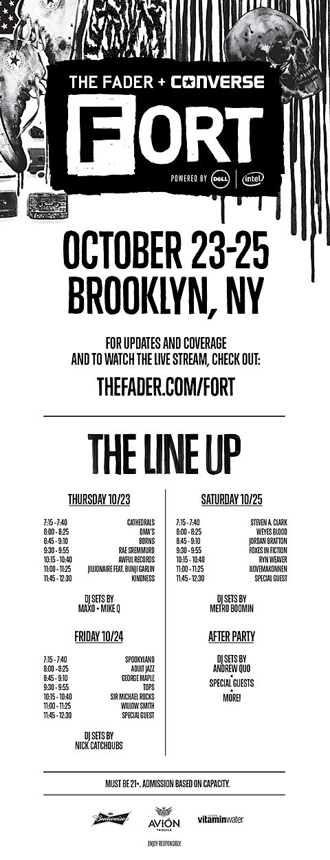 Fader Fort full 2014 CMJ lineup revealed, RSVP open