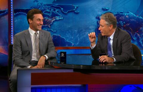 Jon Hamm on the Daily Show