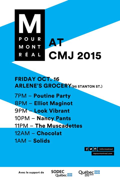 M for Montreal CMJ Showcase 2015
