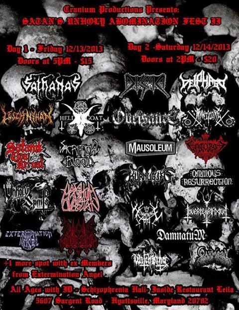 Satan's Unholy Abomination Fest