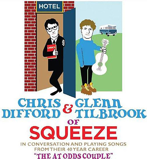 Squeeze frontmen Chris Difford and Glen Tilbrook on The At Odds Couple Tour