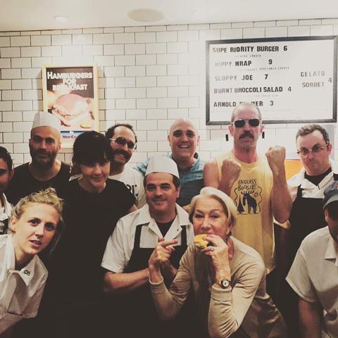 Helen Mirren at Superiority Burger