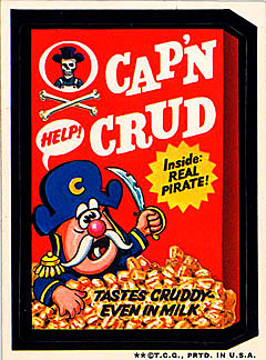 Tickets on sale wacky packages captain crud