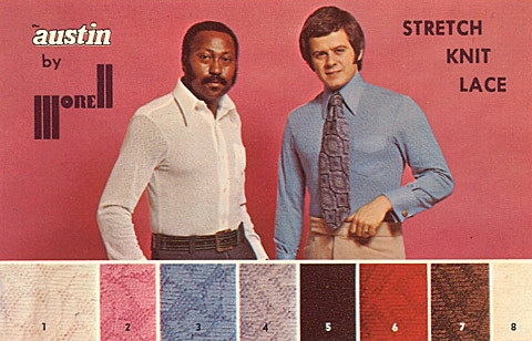 '70s polyester clothing lace men's shirts
