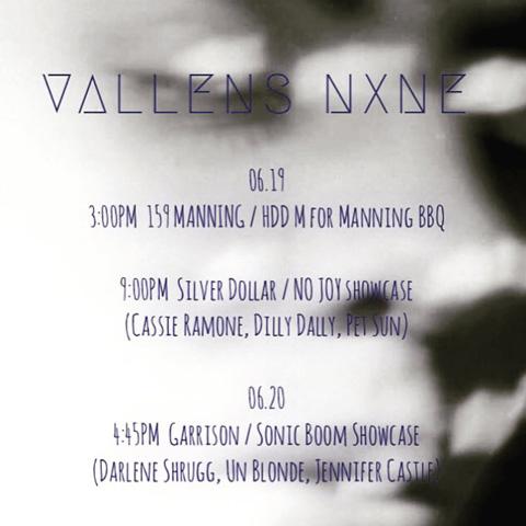 Vallens NXNE flyer