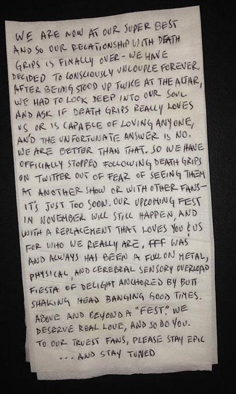 Dear Death Grips