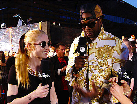 Grimes and 2 Chainz