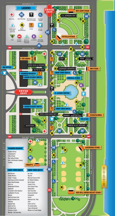 Lollapalooza map