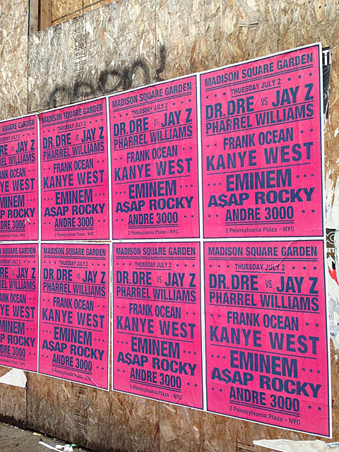 Kanye West Would Never Let Anyone Bill Him 5th On A Poster, But Regardless,  Even With The Typos, This Concert Bill Popping Up Around NYC That Claims  Jay Z, ...