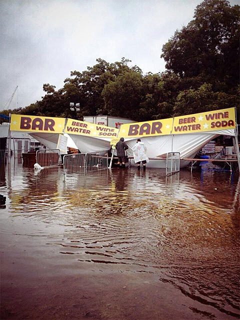Zilker Park flooded