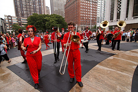 Hungry March Band - Lincoln Center Out of Doors , NYC - August 9th, 2013