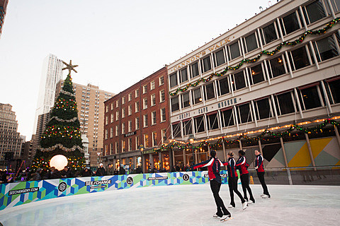 South Street Seaport - Christmas Tree Lighting Ceremony 2013