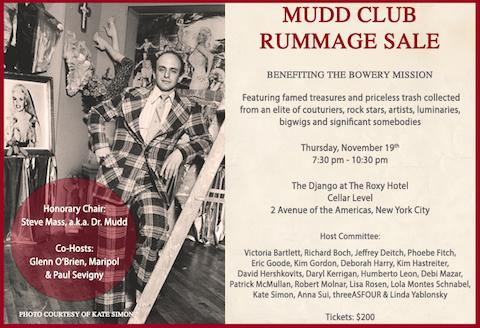 Mudd Club Rummage Sale
