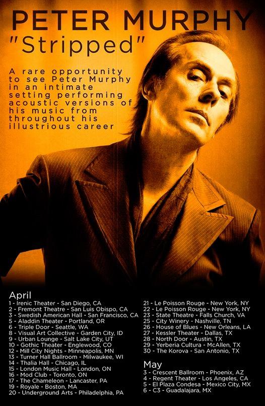 Peter Murphy Stripped tour