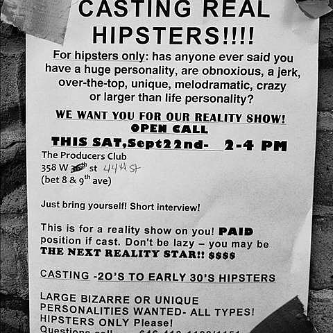 Hipster Casting