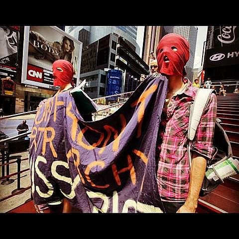 Pussy Riot Times Square protes