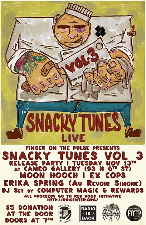 Snacky Tunes flyer