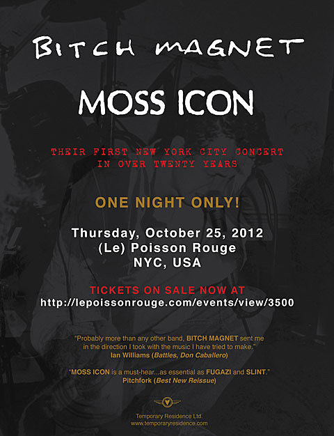Bitch Magnet & Moss Icon flyer