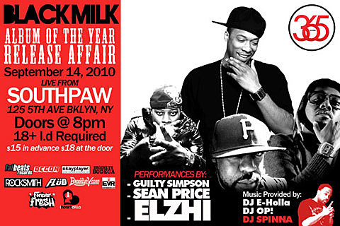 Black Milk flyer