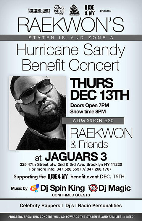 Raekwon Hurricane Sandy benefit