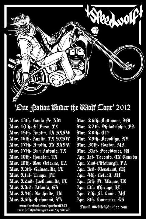 Speedwolf tour flyer