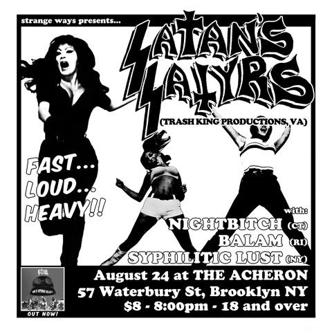 Satan's Satyrs flyer